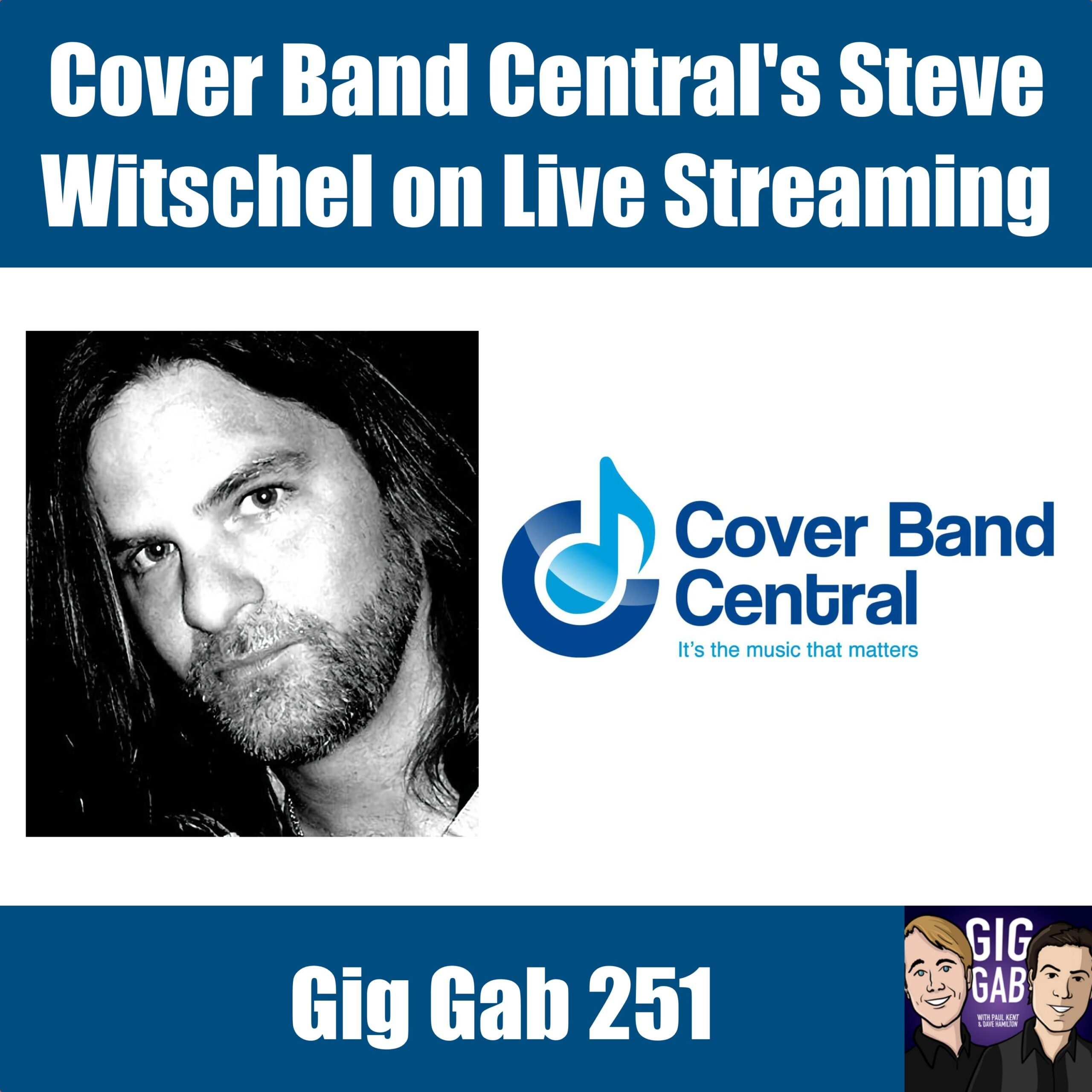 Headshot of Steve Witschel from Cover Band Central on Gig Gab Podcast 251