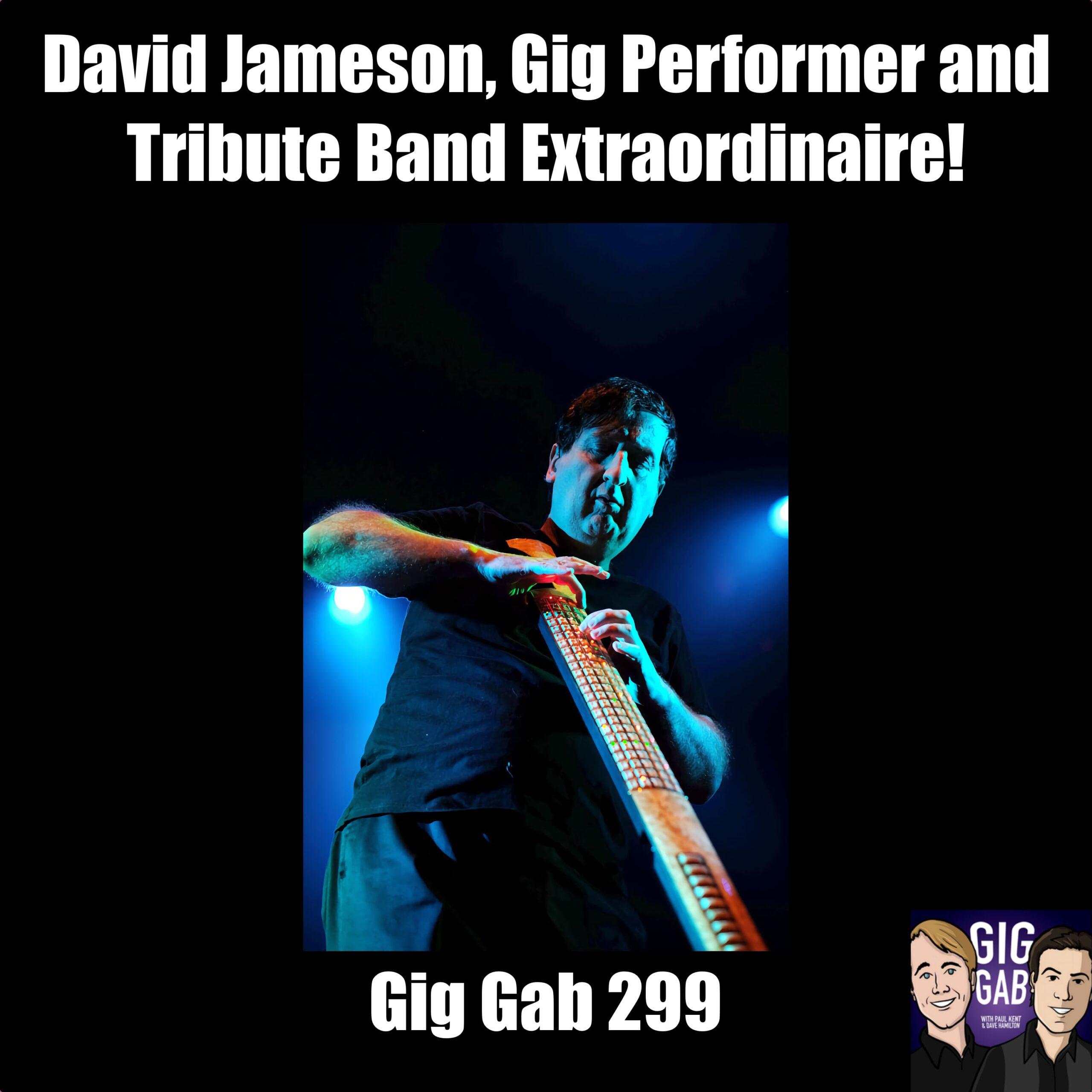 David Jameson playing the Eigenharp on the cover of Gig Gab 299